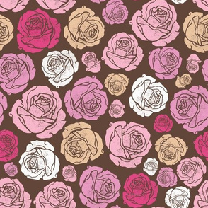 Valentine's Day Roses brown small scale