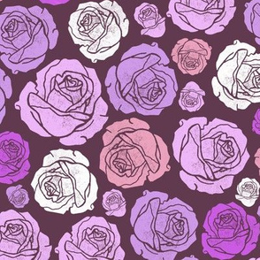 Valentine's Day Roses lilac small scale