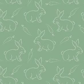bunnies & carrots- jade