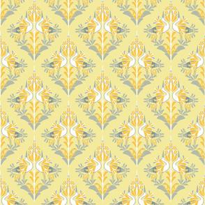light yellow damask
