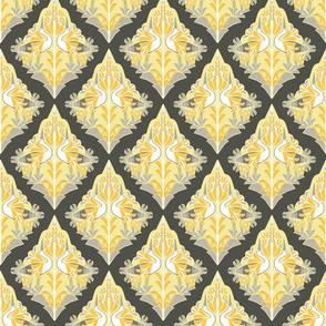 gray-yellow damask