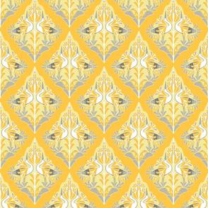 damask in yellows