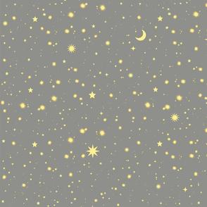 Gray and Yellow Galaxy