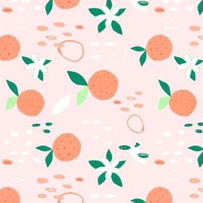 Orange You Glad? pink - tea towel