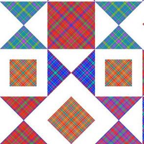 Geometric Plaid Patchwork
