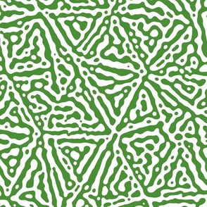 Triangle lines Turing design #3 - green and white