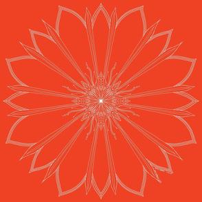 Large fine line flower