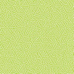 tiny triangles Turing texture #3 - bright lime green and white