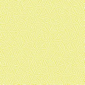 tiny triangles Turing texture #3 - sunshine yellow and white