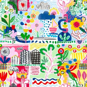 Happy Colour Collage medium