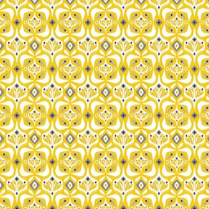 Eastlyn - Ikat Geometric Yellow Small Scale