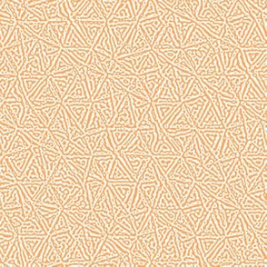 tiny triangles Turing texture #3 - faded orange and white