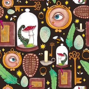 Curious Curio- Dark Brown