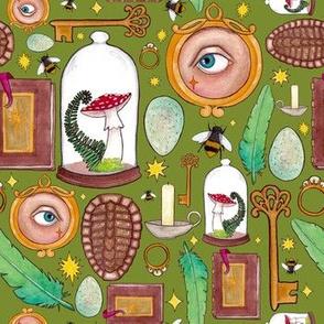 Curious Curio- Grass Green