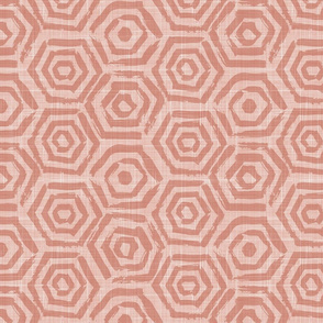 pink heagons linen texture