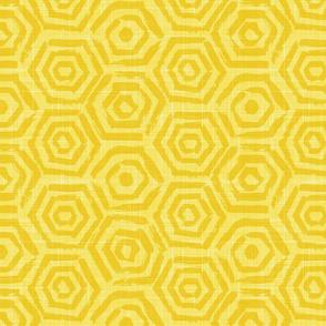 yellow hexagons solid