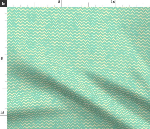 Fabric by the Yard Hand drawing zigzag  Сollection