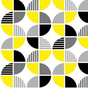 Yellow + Gray Geometric Pattern