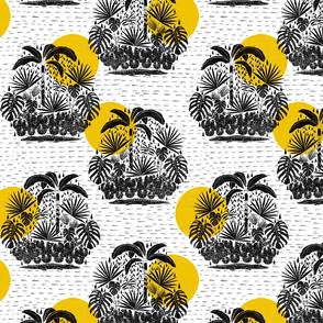 Jungle Stamp - Yellow and Gray