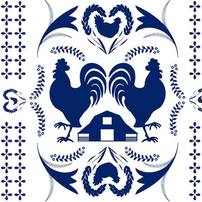Roosters and Chickens on the Farm (Jumbo)