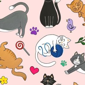 kutie kitties pink large scale