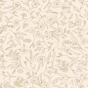 Ditsy buttercup floral - natural