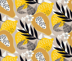 Lemony and Papaya Yellow // Yellow and Gray