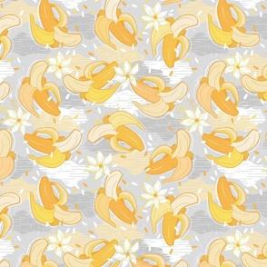 Happy Bananas - Yellow and Gray / Small