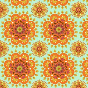 retro.flowers.orange.green.2.by.bundgaard