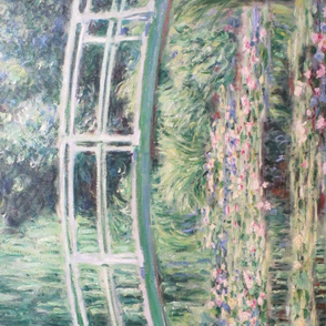 Claude Monet tea towel // white water lilies