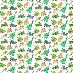 Cute Christmas Dinos - on white