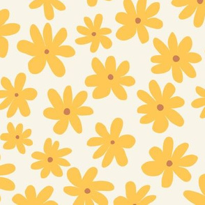Pretty Flowers - Yellow Reverse