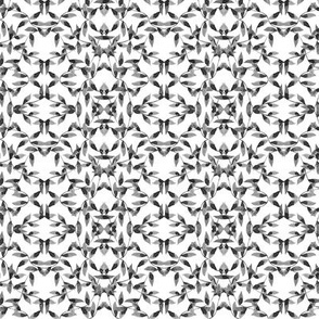Gray Vines Geometric on White