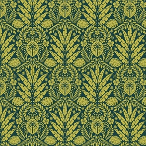 Hawaiian Damask - Medium Scale