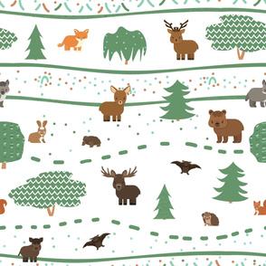 Cute forest animals pattern