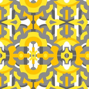 Yellow & Gray Geometric Abstract