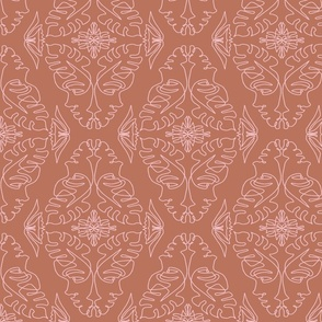 One Line Lady Damask Clay