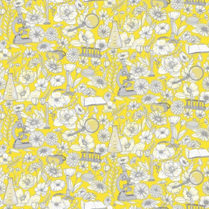 Smaller Beautiful Science Yellow and Gray