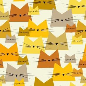 cats - nala cat shades of yellow - geometric cats