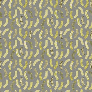 Yellow And Gray Socks With Texture Background