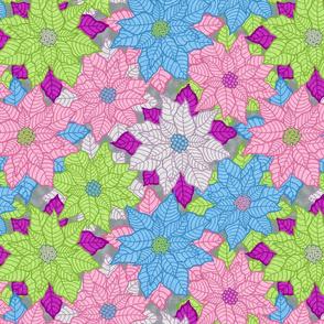 Poinsettia Overload in Retro Colors - Smaller