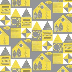 HSH Houses Grey Yellow