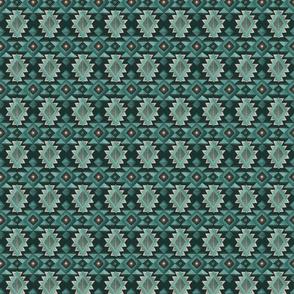 Green Tribal Pattern