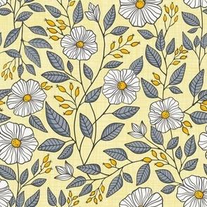 Yellow & Gray flowers