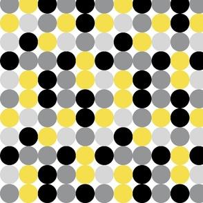 Yellow and Grey Dots