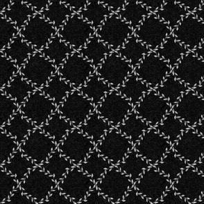 Simple Gray Vines on Black Texture