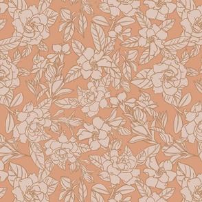 Gardenia blooms - blush