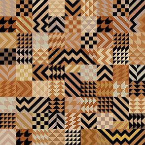 African Patchwork Quilt - Large  Scale