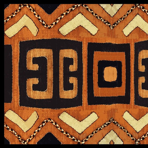 Shaman Tribal Shield - Yellow Blue Orange