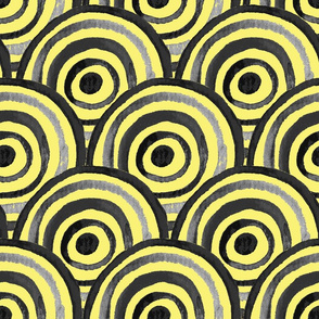 Yellow and Gray circles